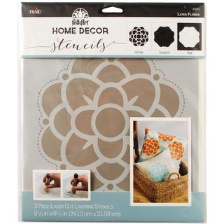 3PK Stencil Layer Medallion 24 x 21cm