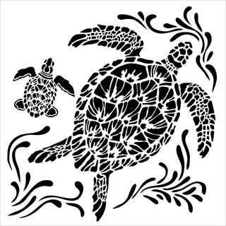 Stencil Sea Turtles 30 x 30cm