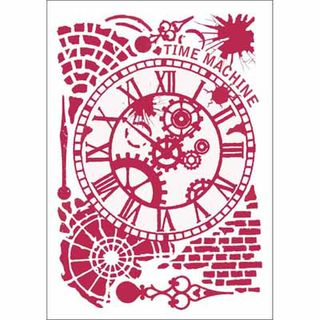 Stencil 21 x 30cm Time Machine