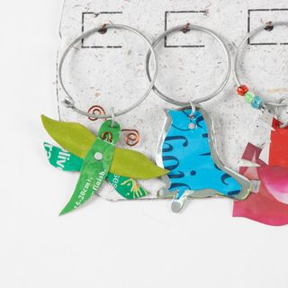 TRADE AID: 6 Recycled Wine Glass Charms