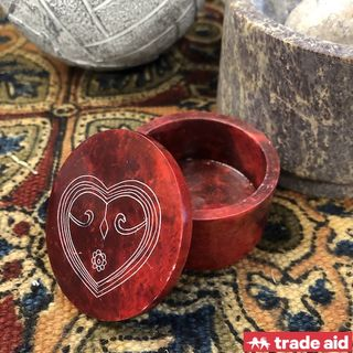 TRADE AID: Red Stone Heart Box