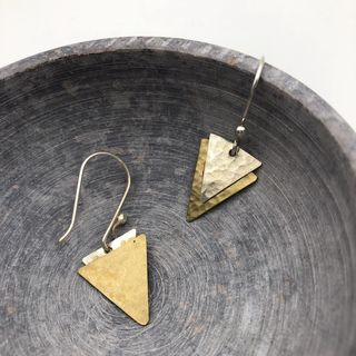 Two-layer Triangle Earrings