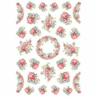 A4 Rice Paper Garland of Roses
