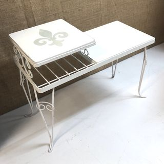 Metal legged side table