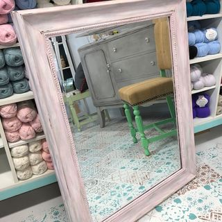 Upcycled Large Mirror Pink