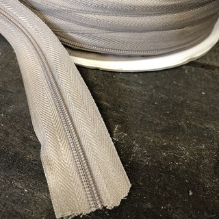 Continuous Zipper, 4.5mm Beige