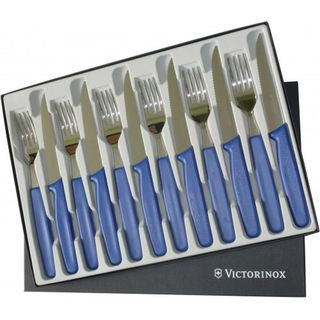 Victorinox Steak Knife Set, 12pc, Blue