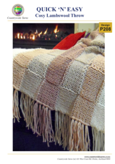 PATTERN: Lambswool Throw