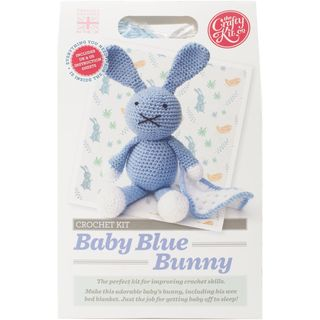Crochet Baby Blue Bunny Kit