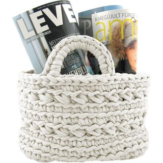 Zpagetti Yarn Kit Off-White Basket Kit