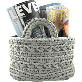 Zpagetti Yarn Kit Mid Gray Basket Kit