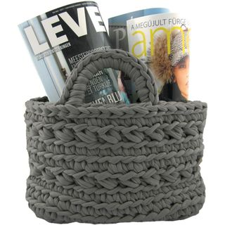 Zpagetti Yarn Kit Dark Gray Basket Kit