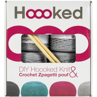 Hoooked Pouf Kit, Silver Grey