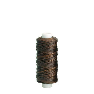 Waxed Polyester Thread, Brown, 22m