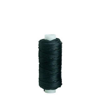 Waxed Polyester Thread, Black, 22m