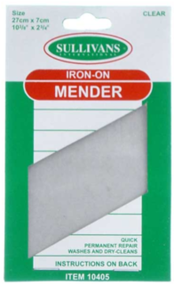 Iron on mender, clear