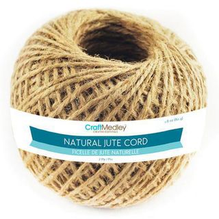 Twine, jute cord 2ply, 80gm roll