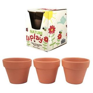 3 Pack Terracotta Pots
