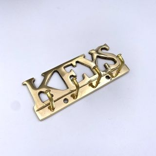 Hook - Brass 4 Hook Key Rack