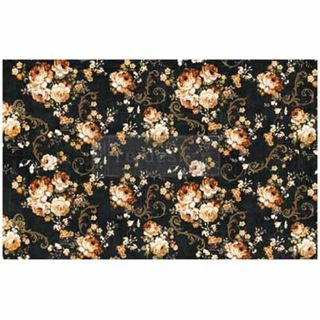 2PK Rice Paper HUGE Dark Floral