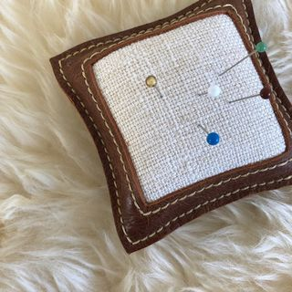Leather Pin Cushion 10x10cm