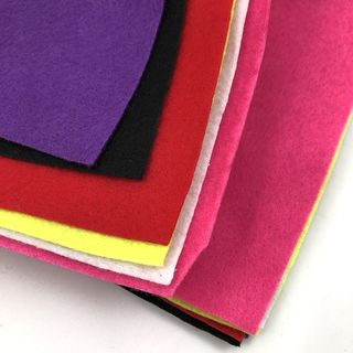 Coloured Felt Pack, A5 Size, 6PK