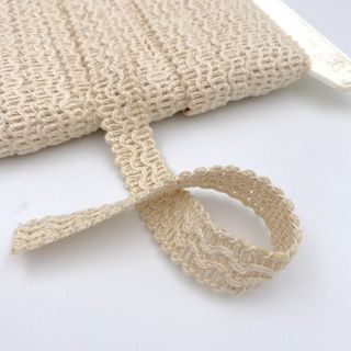Gimp Braid 18mm Knitted Natural