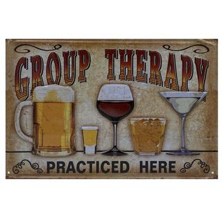 Group Therapy Tin Sign 30 x 20cm