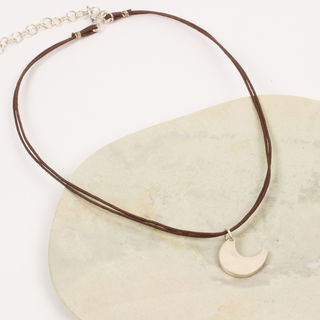 Moon Corded Necklace