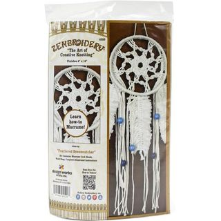 Macrame Kit Zenbroidery Feather Dreamcatcher