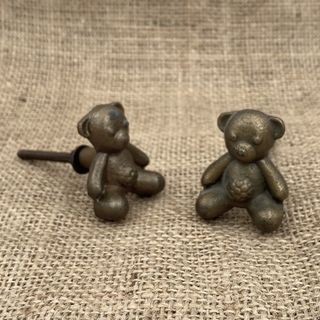 Knob Metal Cute Teddy