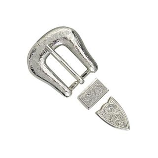 Buckle Set, Engraved, 20mm (3/4