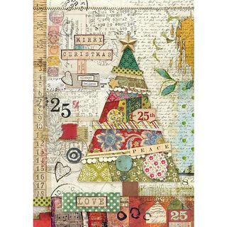 A4 Rice Paper Patchwork Tree