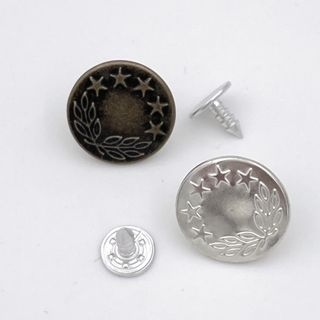 Jeans Button Metal, 6PK