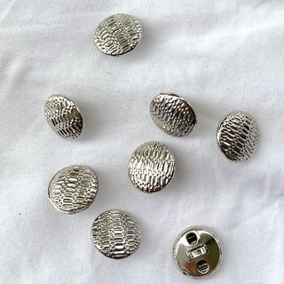 Button Silver Shanked 13mm