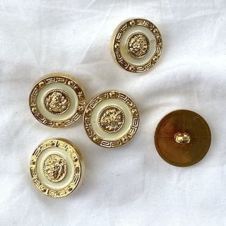 Button Gold Shanked 25mm