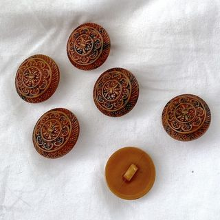 Button Brown Shanked 20mm