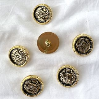Button Gold Shanked 21mm