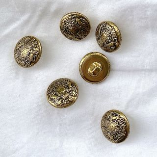 Button Gold Shanked 15mm