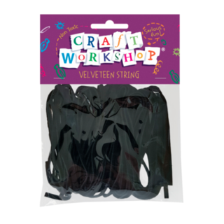 Craft Velveteen String Black 8 x 1m