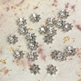 Bead Cap Star Flower 8mm 20PK