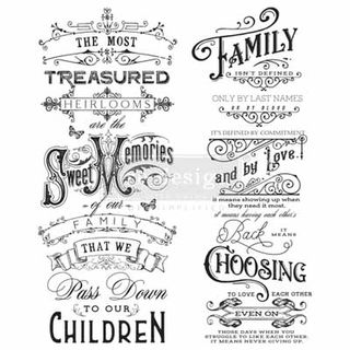 Redesign Decor Transfers - Family Heirlooms 24 x 29