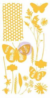 Adhesive Rub-ons, Butterflies, Yellow