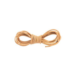 Round Leather Cord, 2mm, Natural #00