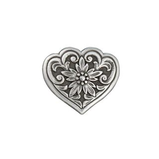 Concho, Floral Heart, 26mm (1