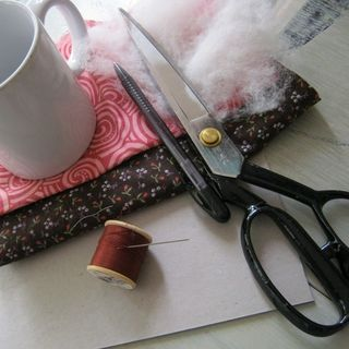 Make a pin-cushion from scraps