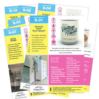 FREE Reference Cards for Vintage Paint Range