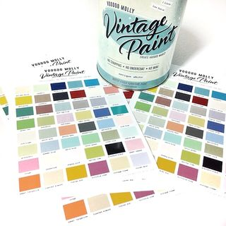 Colour Chart for Vintage Paint