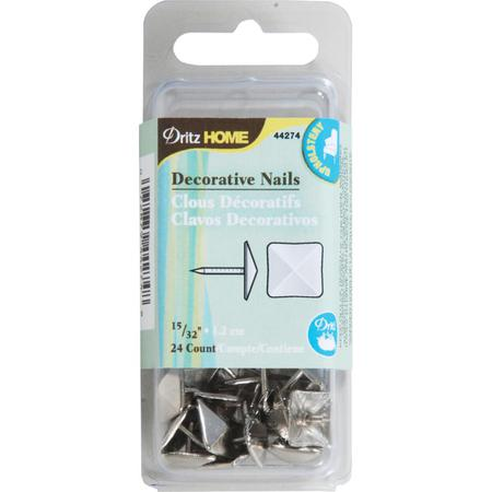 Decorative Nails, 1.2cm Silver Square