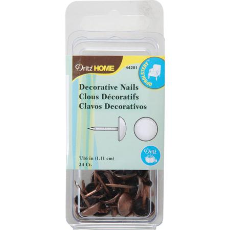Decorative Nails, 1.11cm Copper